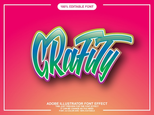 Графический стиль графического редактора редактируемая типография