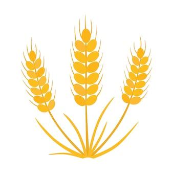 Зерно, значок пшеницы.