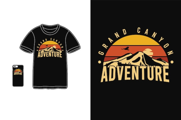 Grand canyon adventure,t-shirt merchandise silhouette   typography