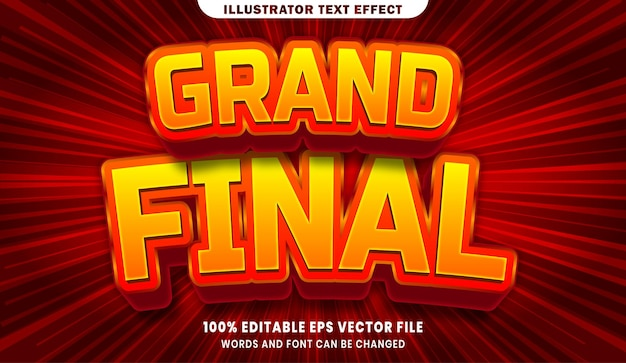 Grand final 3d editable text style effect