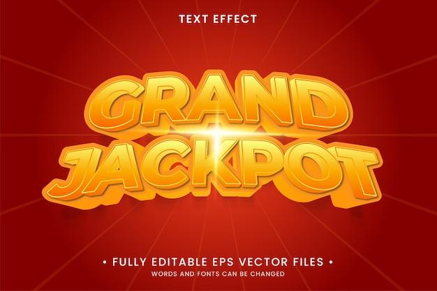 Grand jackpot text effect