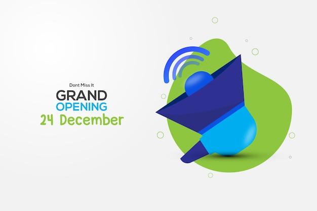 Grand opening background banner design. advertising
