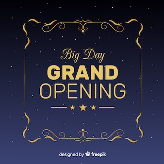 Grand opening background flat design