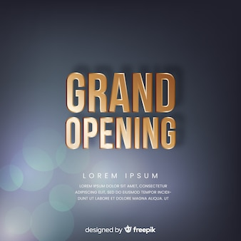 Grand opening background in realistic style