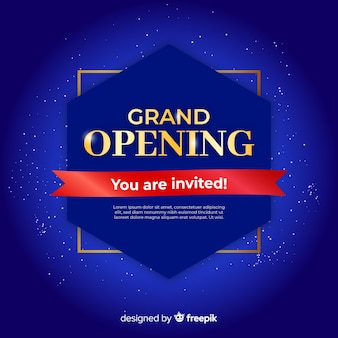 Grand opening background template realistic design