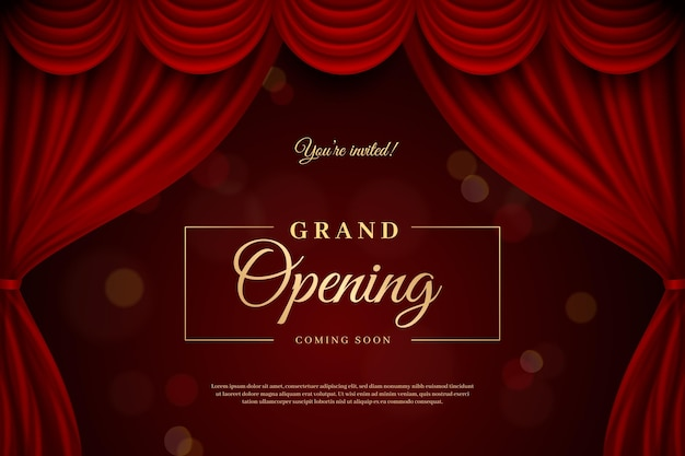 Grand opening background with golden elements