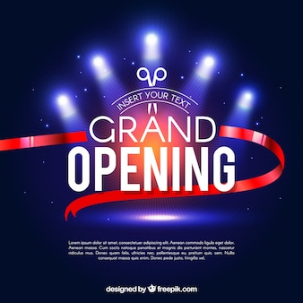 Grand opening vectors photos and psd files free download grand opening background with lights stopboris Gallery