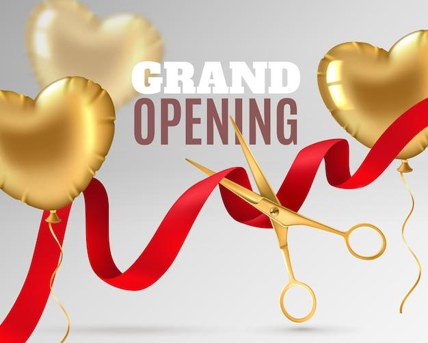 Grand opening banner design or promotion flyer