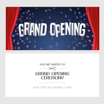 Grand opening banner illustration