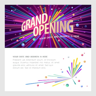 Grand opening banner. template design element for opening ceremony.
