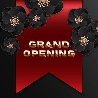 Grand opening banner. template festive design element for opening ceremony