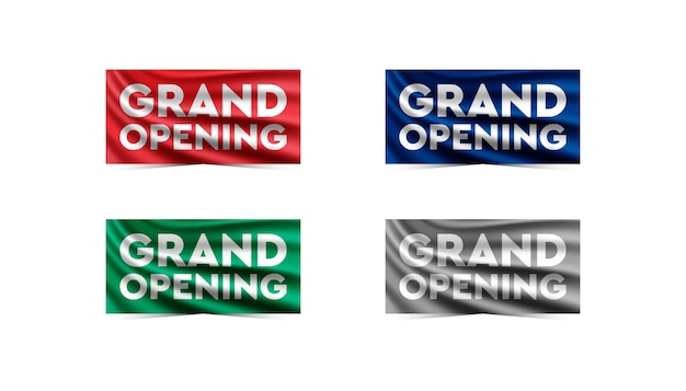 Grand opening blue background .