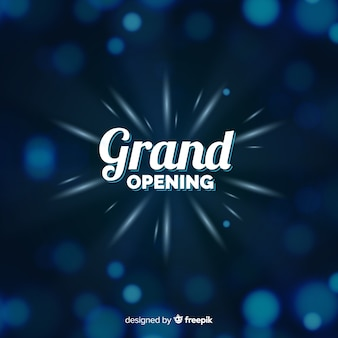 Grand opening bokeh background