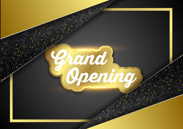 Grand opening business ceremony vector illustration