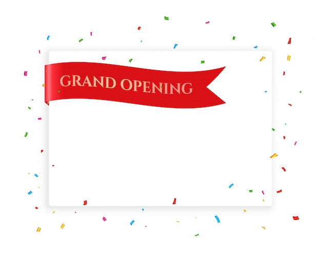Grand opening celebration background with copyspace