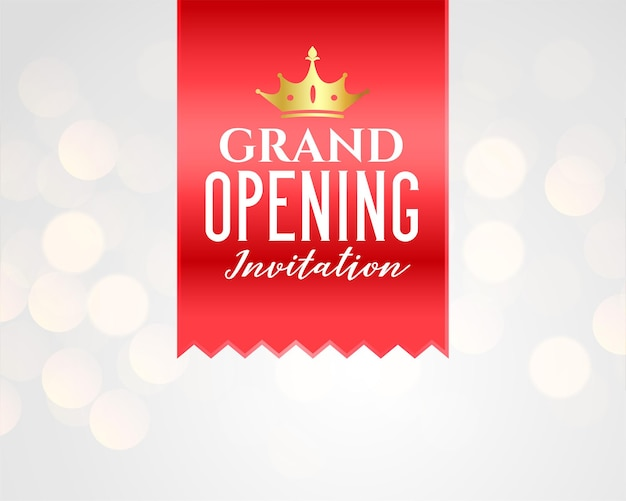 Grand opening celebration banner template design