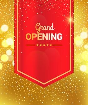 Grand opening celebration banner