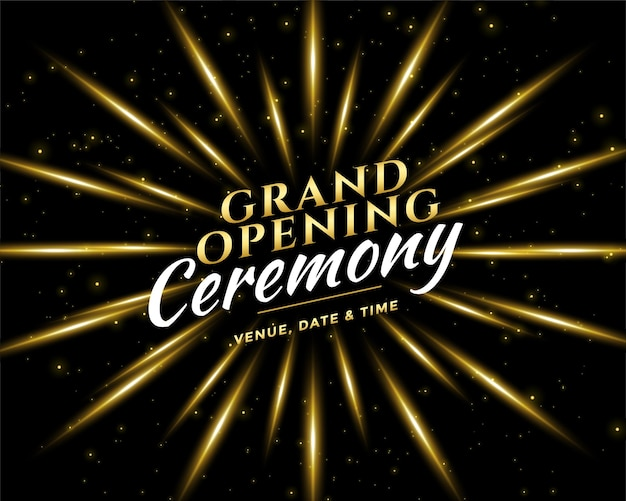 Grand opening ceremony celebration invitation card design