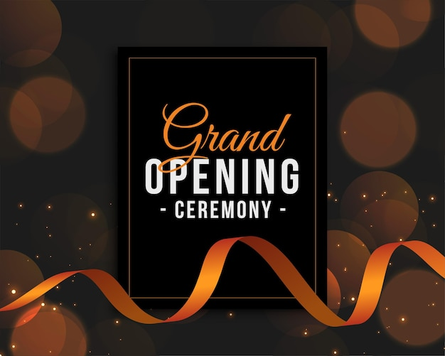 Grand opening ceremony invitation template