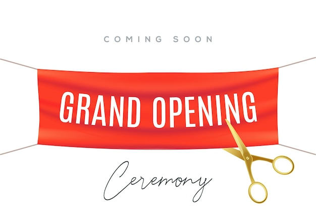 Приглашение концепции плаката церемонии торжественного открытия. шаблон партии украшения торжественного открытия события.