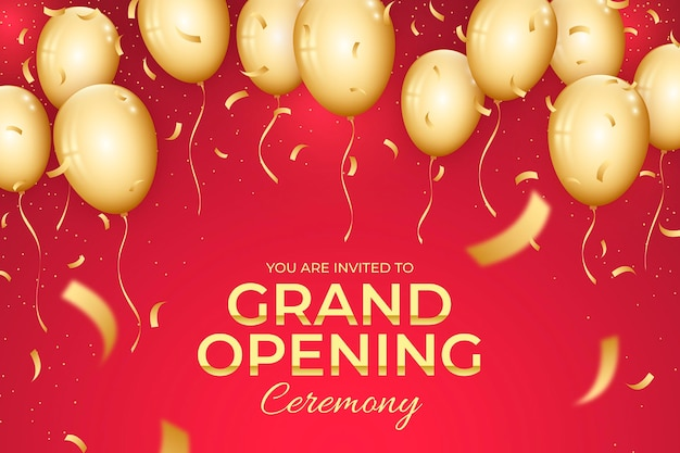 Grand opening ceremony with balloons
