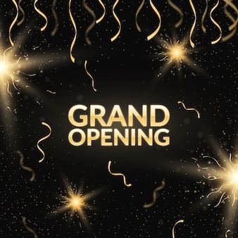 Grand opening ceremony with confetti