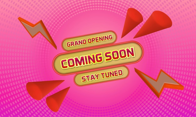 Grand opening coming soon banner template background