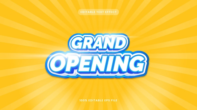 Grand opening editable text effect