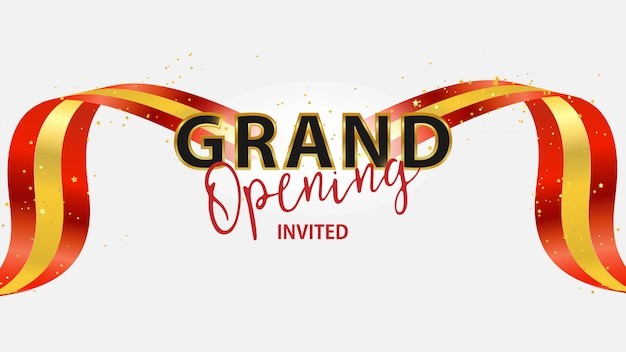 Grand opening event design.