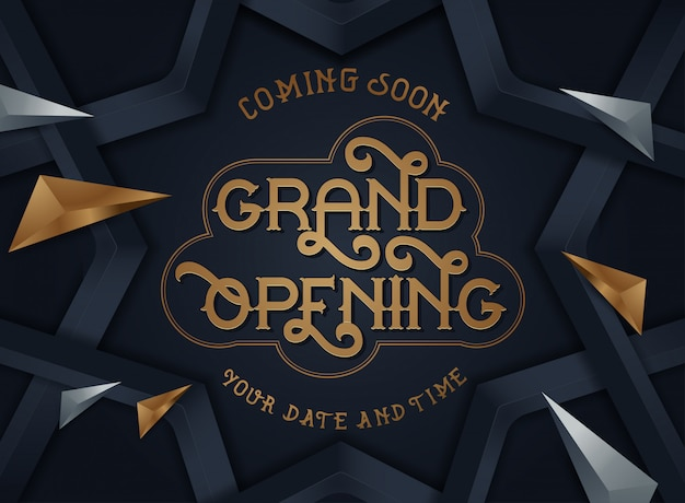 Grand opening flyer or invitation card