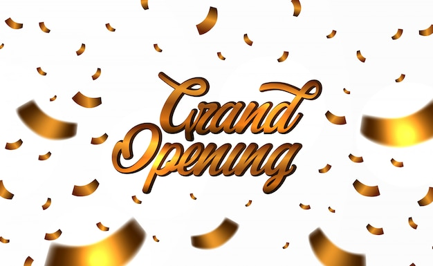 Grand opening gold confetti