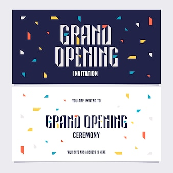 Grand opening illustration, background, invitation card. template invite to opening ceremony with bodycopy