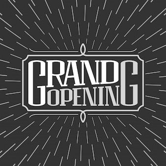 Grand opening  illustration, background