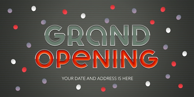 Grand opening  illustration banner template