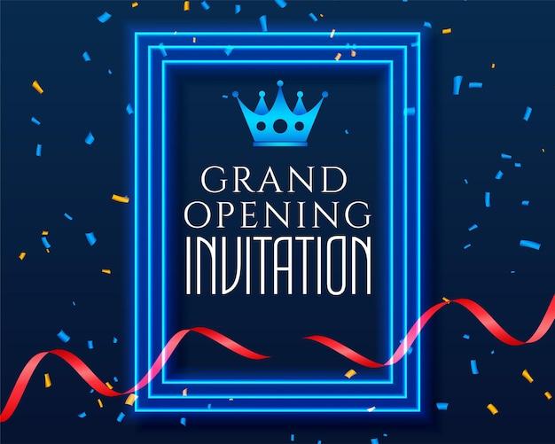 Modello di invito per la celebrazione dell'inaugurazione della grande apertura