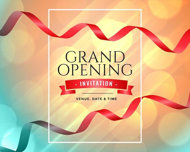 Modello di invito per l'inaugurazione della grande apertura