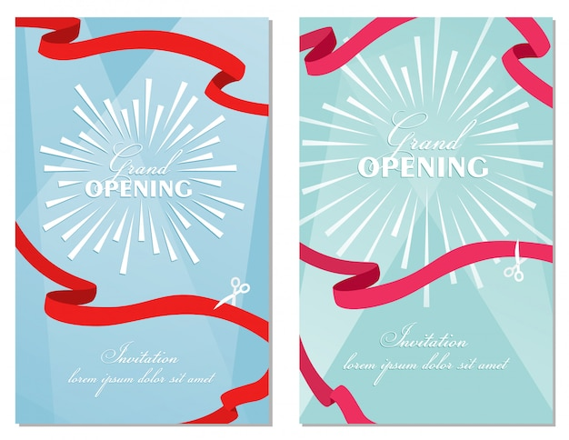 Grand opening invitation card template design