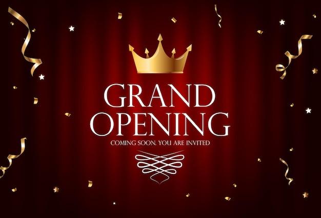 グランドオープンの豪華な招待状の背景