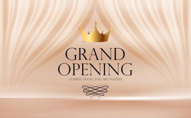 グランドオープンの豪華な招待状