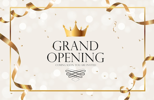 Grand opening luxury invitation