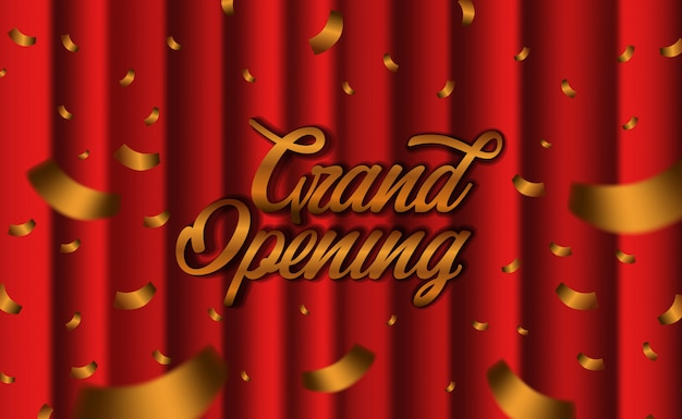 Grand opening luxury red silk curtain
