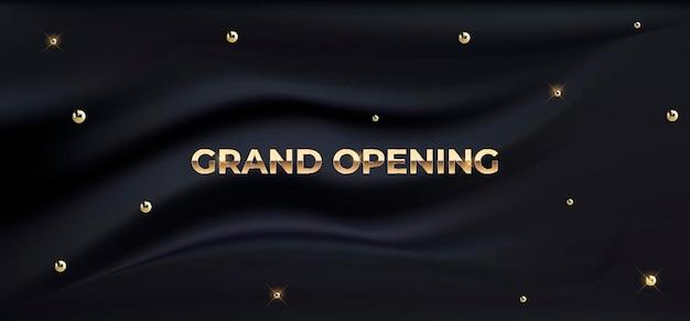 グランドオープンラグジュアリーシルクバナー