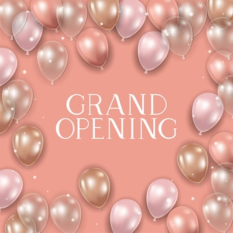Grand opening message and balloons helium