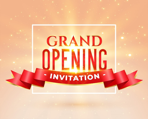 Grand opening party invitation card