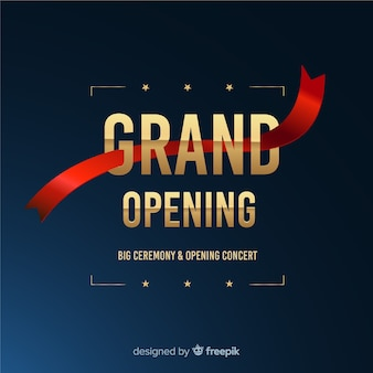 Grand opening soon, announcement design