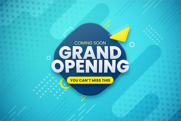 Grand opening soon promo background