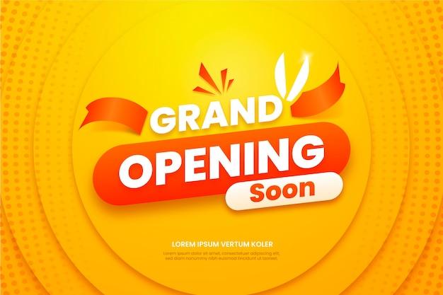 Grand opening soon promo