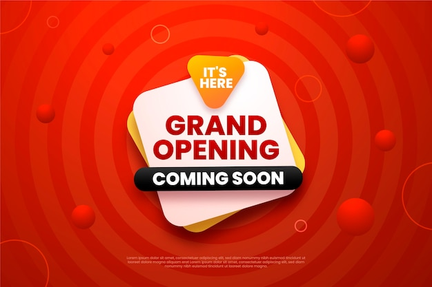 Grand opening soon promo