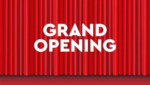 Grand opening soon realistic design background