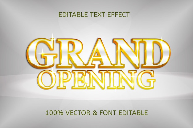 Grand opening style luxury editable text effect